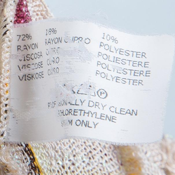 Missoni Ruffled Crochet Knit Dress M