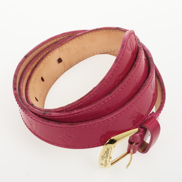 Louis Vuitton Pink Monogram Vernis Belt