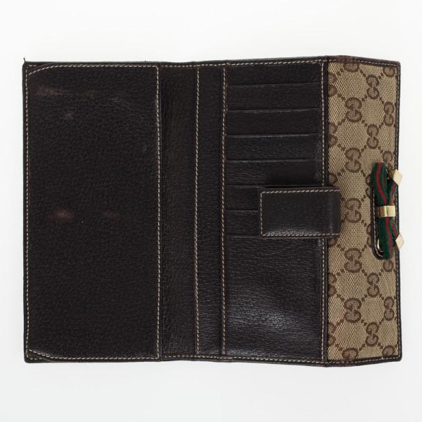 Gucci Monogram Princy Continental Wallet