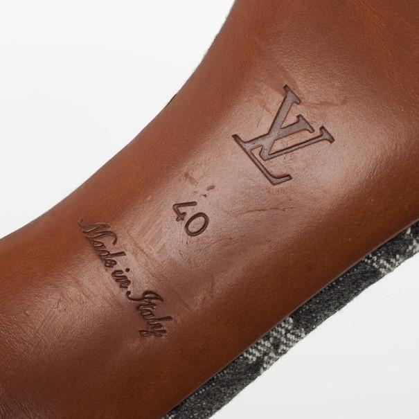 Louis Vuitton Blue Denim Patchwork Sandals Size 40