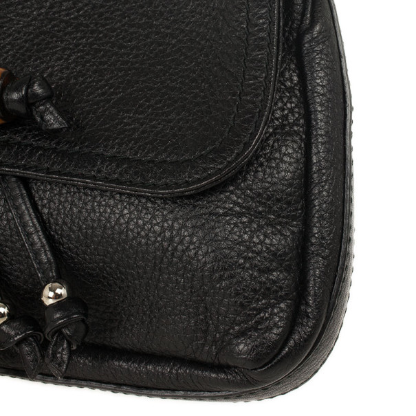 Gucci Black Leather Jungle Shoulder Bag