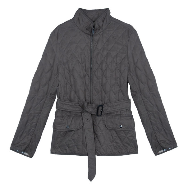 Burberry Mid-Length Diamond Quilted Jacket M