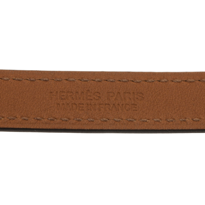 Hermes Rivale Double Tour Blue Leather Bracelet