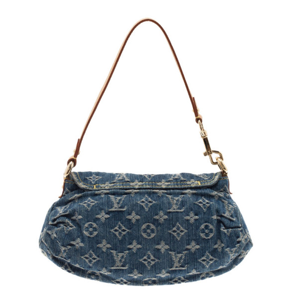Louis Vuitton Blue Monogram Denim Mini Pleaty