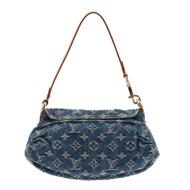 Louis Vuitton Blue Monogram Denim Mini Pleaty