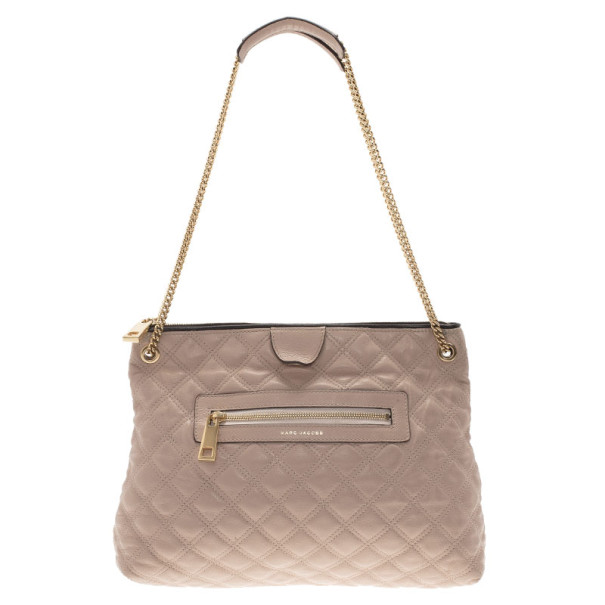 Marc Jacobs Nude Leather Quilted Shoulder Bag