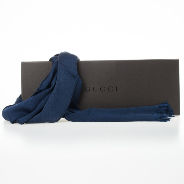 Gucci Blue Monogram Stole