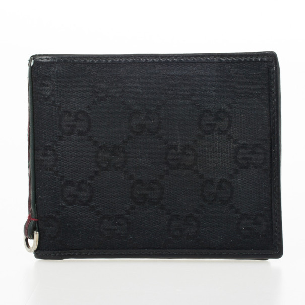 Gucci Black Monogram Billfold Wallet