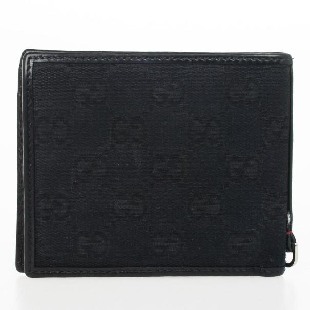 Gucci Black Monogram Billfold Wallet