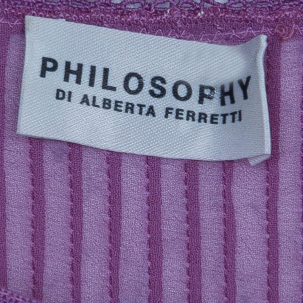 Philosophy di Alberta Ferretti Purple Maxi M