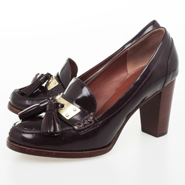 Marc by Marc Jacobs Brown Tassel Loafer Pumps Size 38