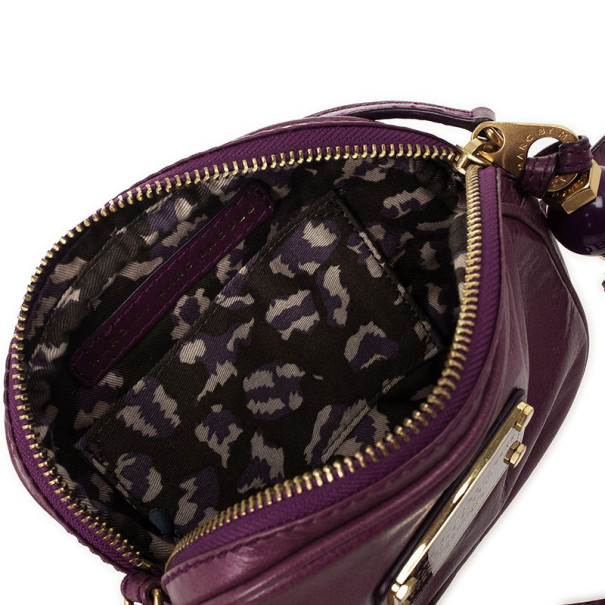 Marc by Marc Jacobs Purple Classic Round Crossbody
