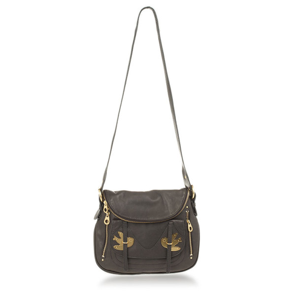 Marc by Marc Jacobs Black Petal To The Metal Natasha Flap Crossbody Bag