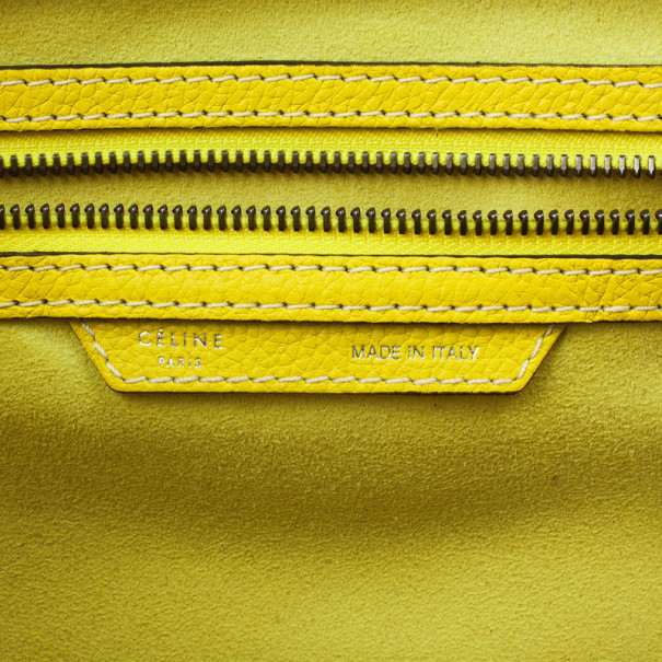 Celine Yellow Citron Mini Luggage Bag