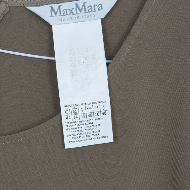 Max Mara Beige Belted Dress L