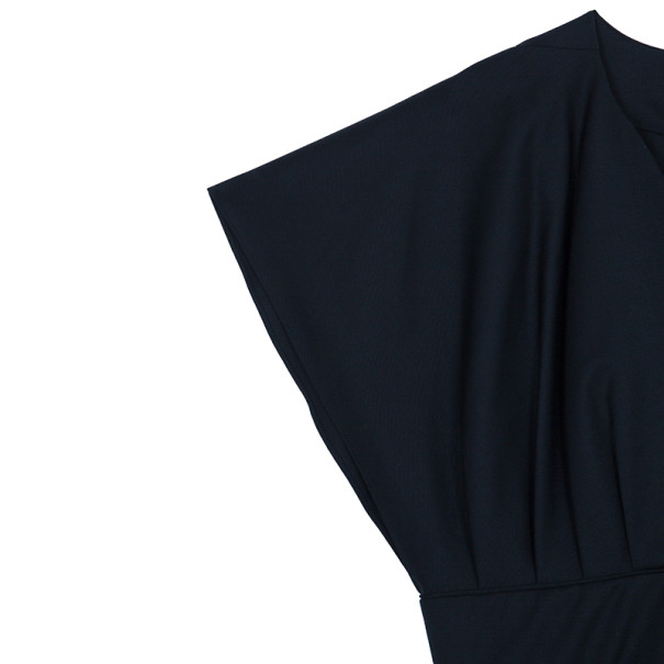Kenzo Black Wrap Front Dress L