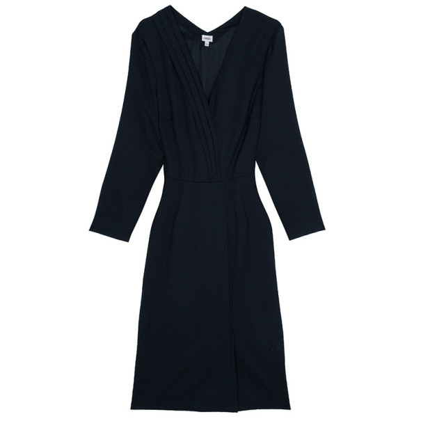 Kenzo Long Sleeves Wrap Dress L