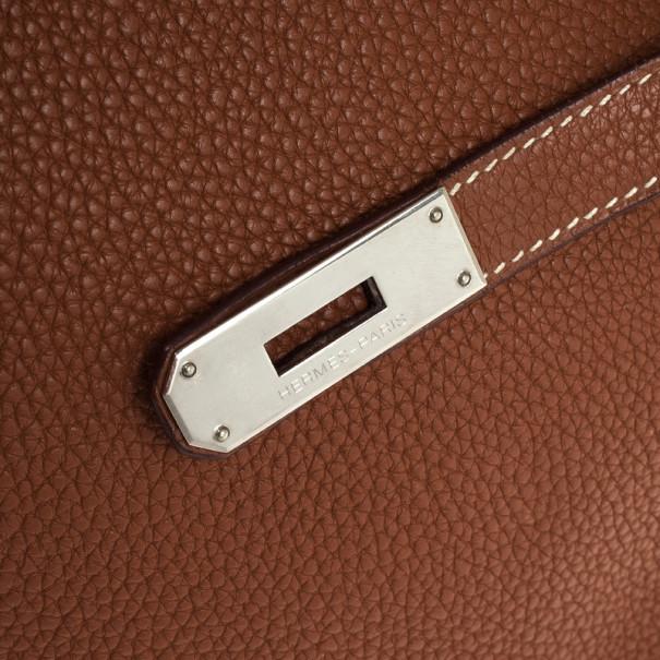 Hermes Brown Togo Birkin With Silver Hardware 35 CM