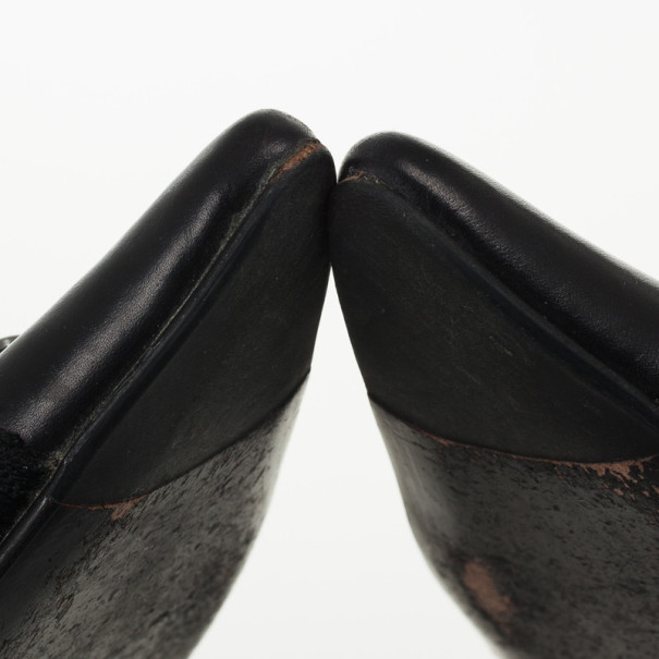 Christian Dior Black Pointed Toe Mules Size 37