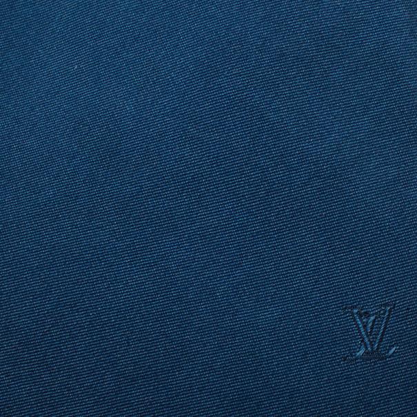 Louis Vuitton Two Tone Blue Silk Tie