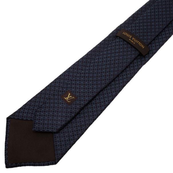 Louis Vuitton Blue Printed Silk Tie