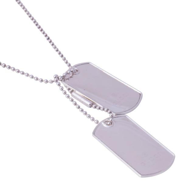 Gucci Silver Two Pendant Tag Necklace