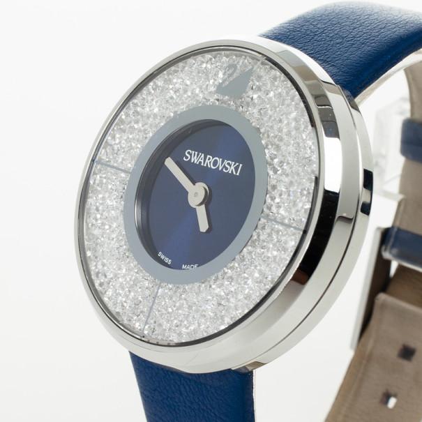 Swarovski Crystalline SS Fabric Womens Wristwatch 40 MM