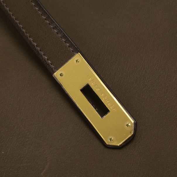 Hermes Vert Olive Barenia Birkin 35 cm