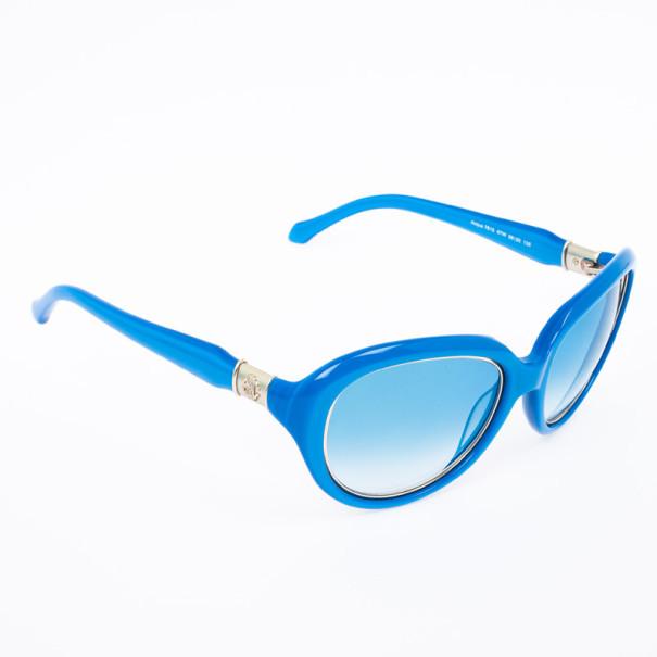 Roberto Cavalli Blue Rounded Cateye Acqua Sunglasses