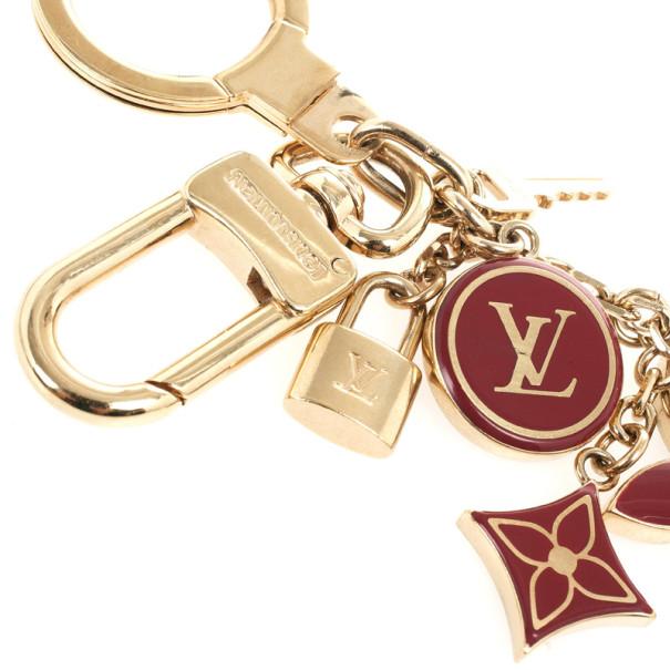 Louis Vuitton Red Pastilles Cles Key Chain Bag Charm