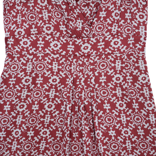 CH Carolina Herrera Red Printed Dress L