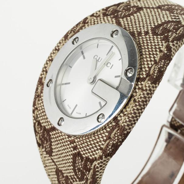 Gucci G Bandeau Fabric Strap Womens Wristwatch 35 MM