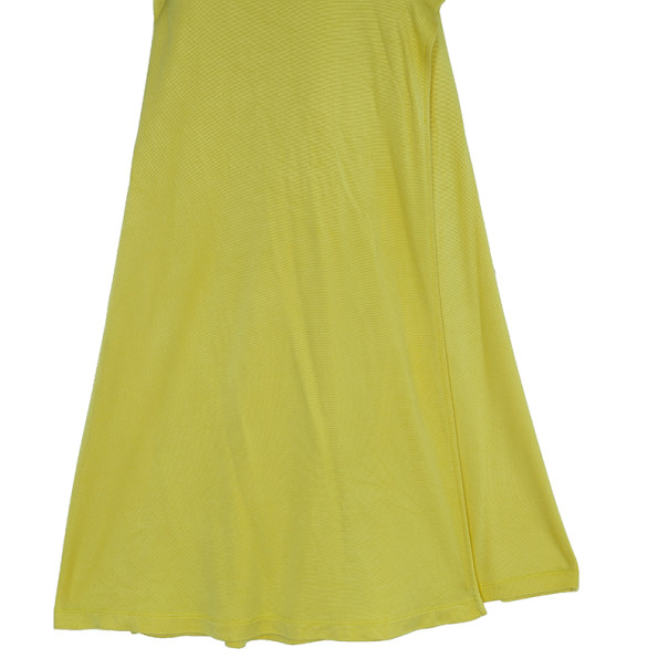 Diane Von Furstenberg Andrina Yellow Wrap Dress L