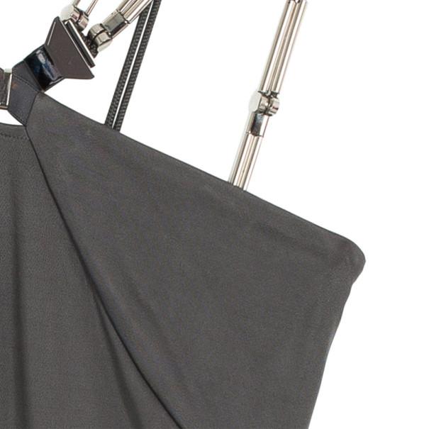 Gucci Grey Dress with Metal Detail L
