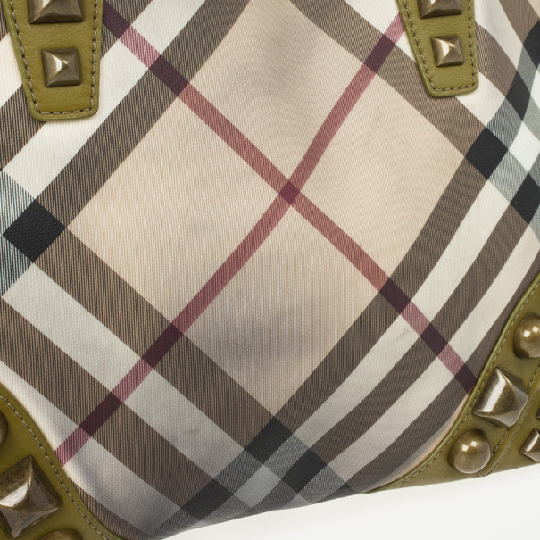 Burberry Nova Check Studded Nickie Tote