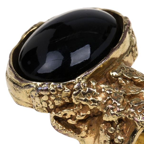 Saint Laurent Paris Arty Black Ring Size 54.5