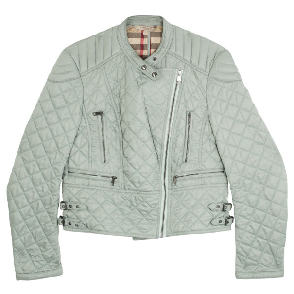 Burberry Diamond Quilted Biker Jacket L