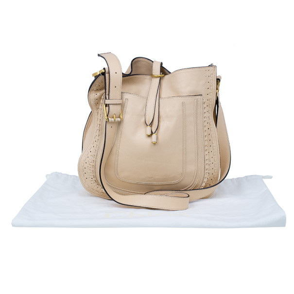 Chloe Cream Leather Marcie Messenger Bag