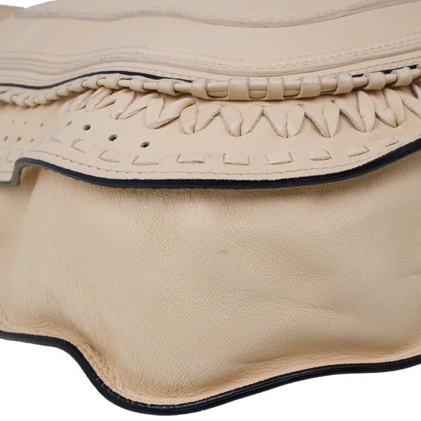 Chloe Cream Leather Marcie Messenger Bag