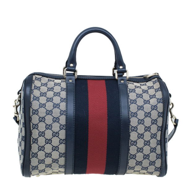 Gucci GG canvas Web Detail Boston Bag