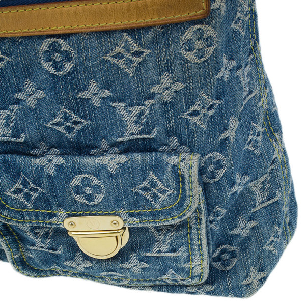 Louis Vuitton Blue Monogram Denim Baggy GM