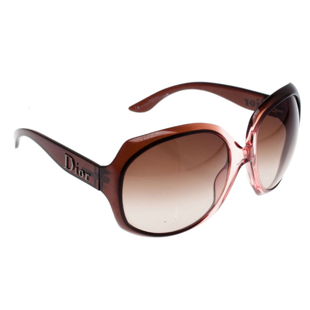 Dior Pink Glossy 1 Oversized Square Sunglasses