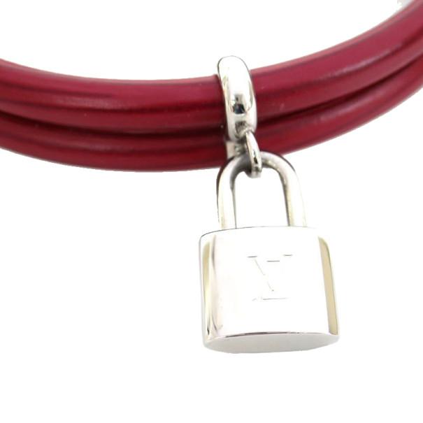 Louis Vuitton Dark Red Epi Keep It Twice Bracelet 19CM