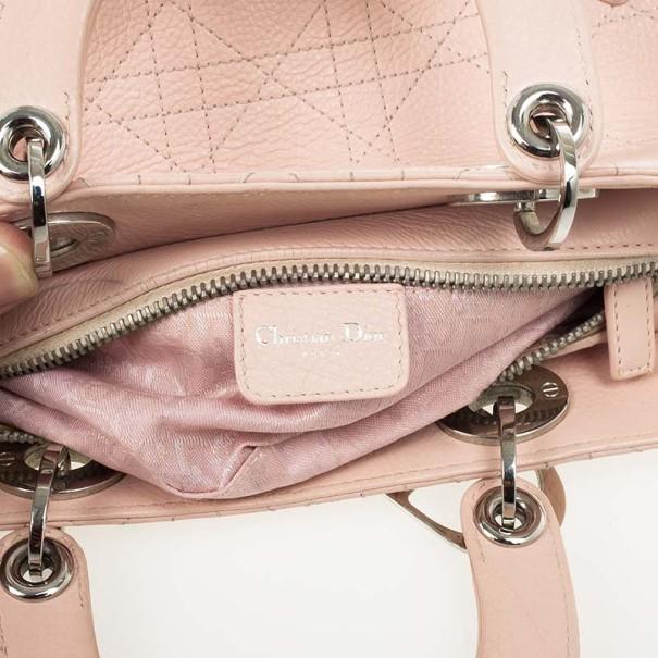 Christian Dior Beige Lady Dior East/West Bag