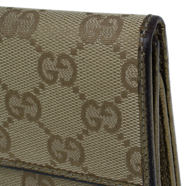 Gucci GG Gold Princy Continental Wallet