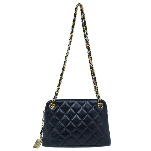 Chanel Black Lambskin Vintage Mademoiselle Small Shoulder Bag