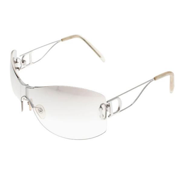 Dior Silver Miss Diorella Shield Sunglasses