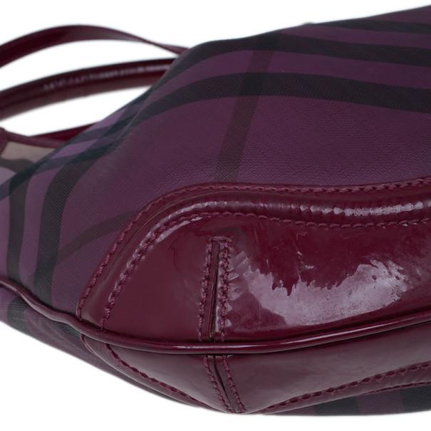 Burberry Pink Nova Pop Check Craigwell Shoulder Bag