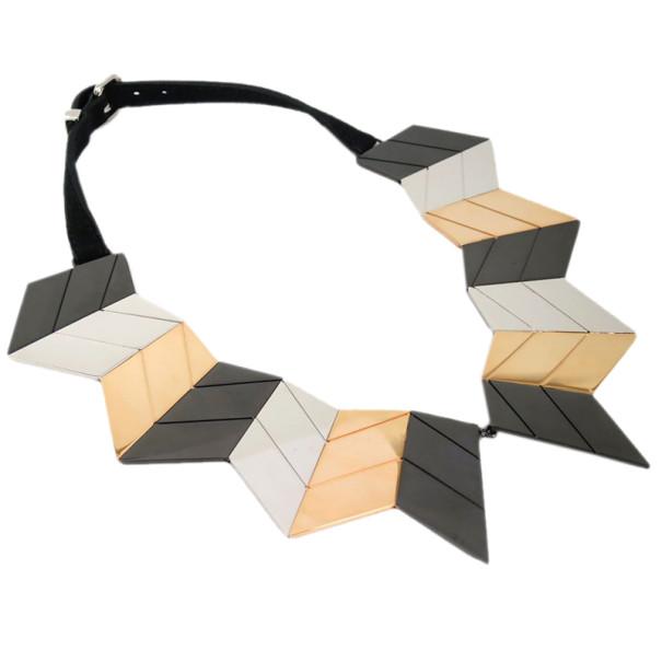 Louis Vuitton Crew Zig Zag Necklace