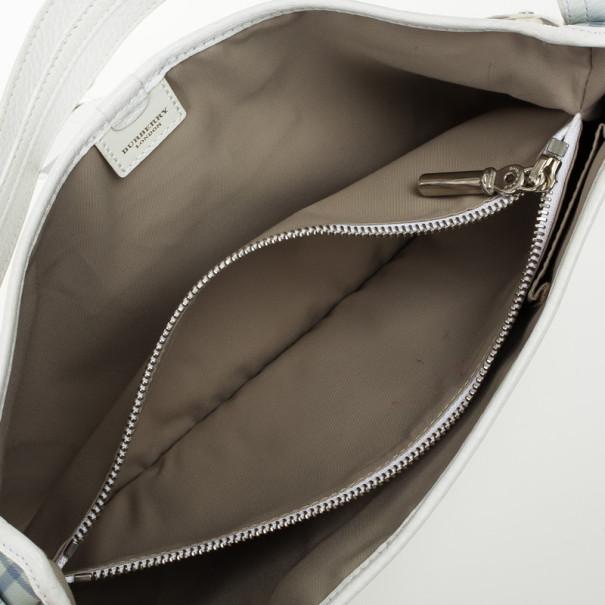 Burberry Haymarket PVC Beige Shoulder Bag